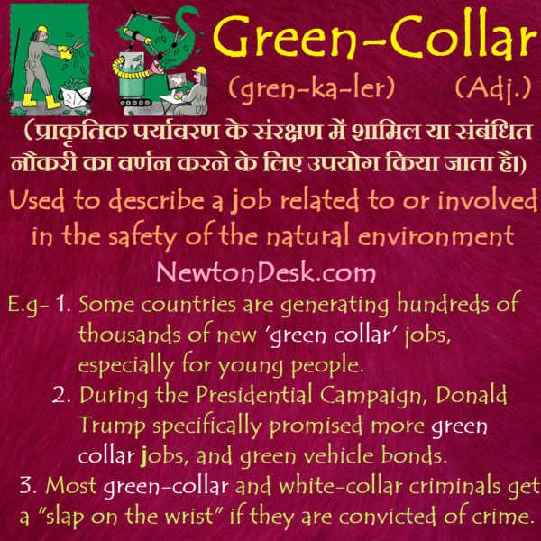 Green Collar – Job Related To Natural Environment