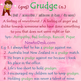 Grudge – A Feeling Of Resentment