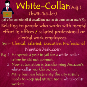 White Collar – People Who Works With Mental Effort In Offices
