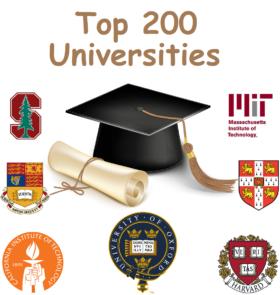 Top 200 Universities Of The World