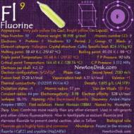 Fluorine F (Element 9) of Periodic Table