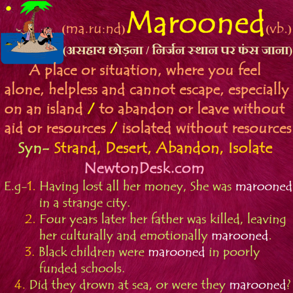 Marooned Meaning – To Abandon or Leave Without Aid or Resources