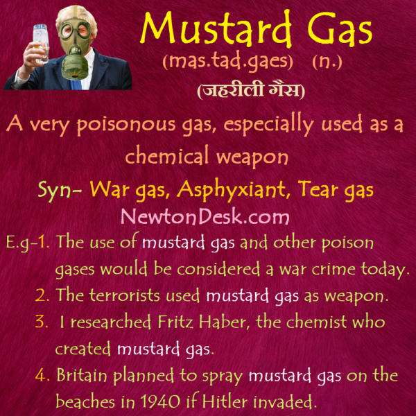 Mustard Gas Meaning – A Very Poisonous Gas