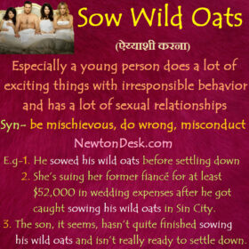 Sow Wild Oats Meaning – A Person Has Many Sexual Relationships