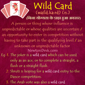 Wild Card Meaning – An Unknown or Unpredictable Factor