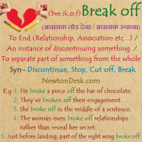 Break Off Meaning – To Separate Part Of Something From The Whole