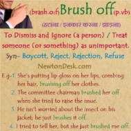Brush Off Meaning – Treat Someone (or Something) As Unimportant