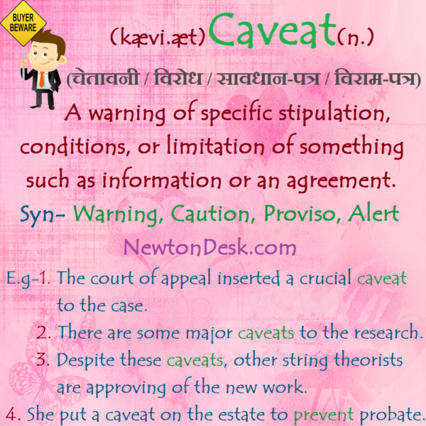 Caveat Meaning – A Warning Against Certain Acts
