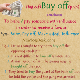 Buy Off Meaning – Pay To Get Rid Of A Claim or Opposition