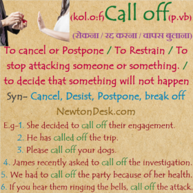 Call Off Meaning – To Decide That Something Will Not Happen