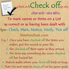 Check Off Meaning – To Mark With A Tick