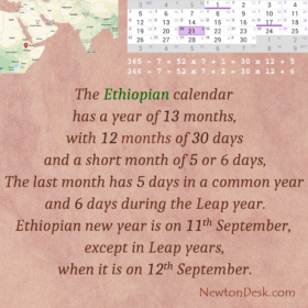 Why Ethiopian Calendar Has 13 Month?