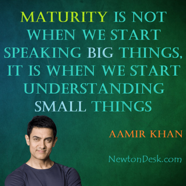 Maturity Is Understanding Small Things