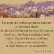 Rainbow Mountains In Zhangye Danxia Of Geological Park China