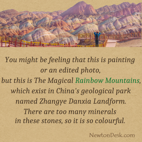 Rainbow Mountains In Zhangye Danxia Of Geological Park China
