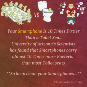 Is Really Smartphone Has More Bacteria Than A Toilet Seat
