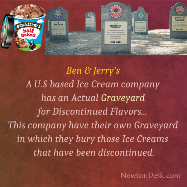 Discontinued Ben & Jerry's Ice Cream Flavor Buried in Real Graveyard