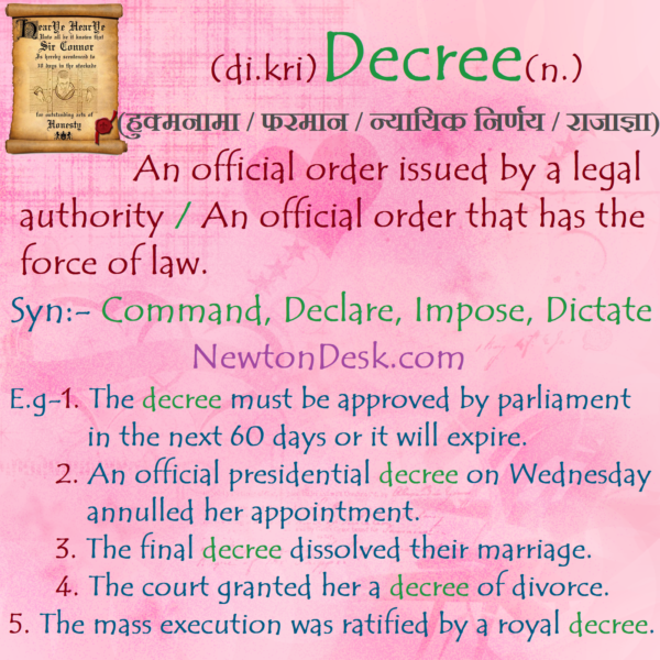 Decree Meaning – An Official Order That Has The Force Of Law