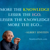 More The Knowledge Lesser The Ego