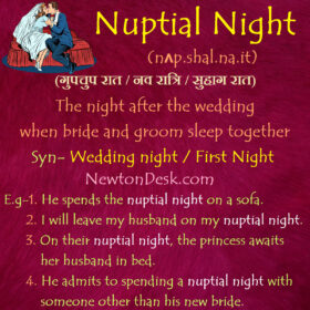 Nuptial Night Meaning – First Night of A Wedding