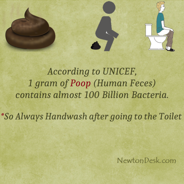 One Gram of Poop Contains Almost 100 Billion Bacteria