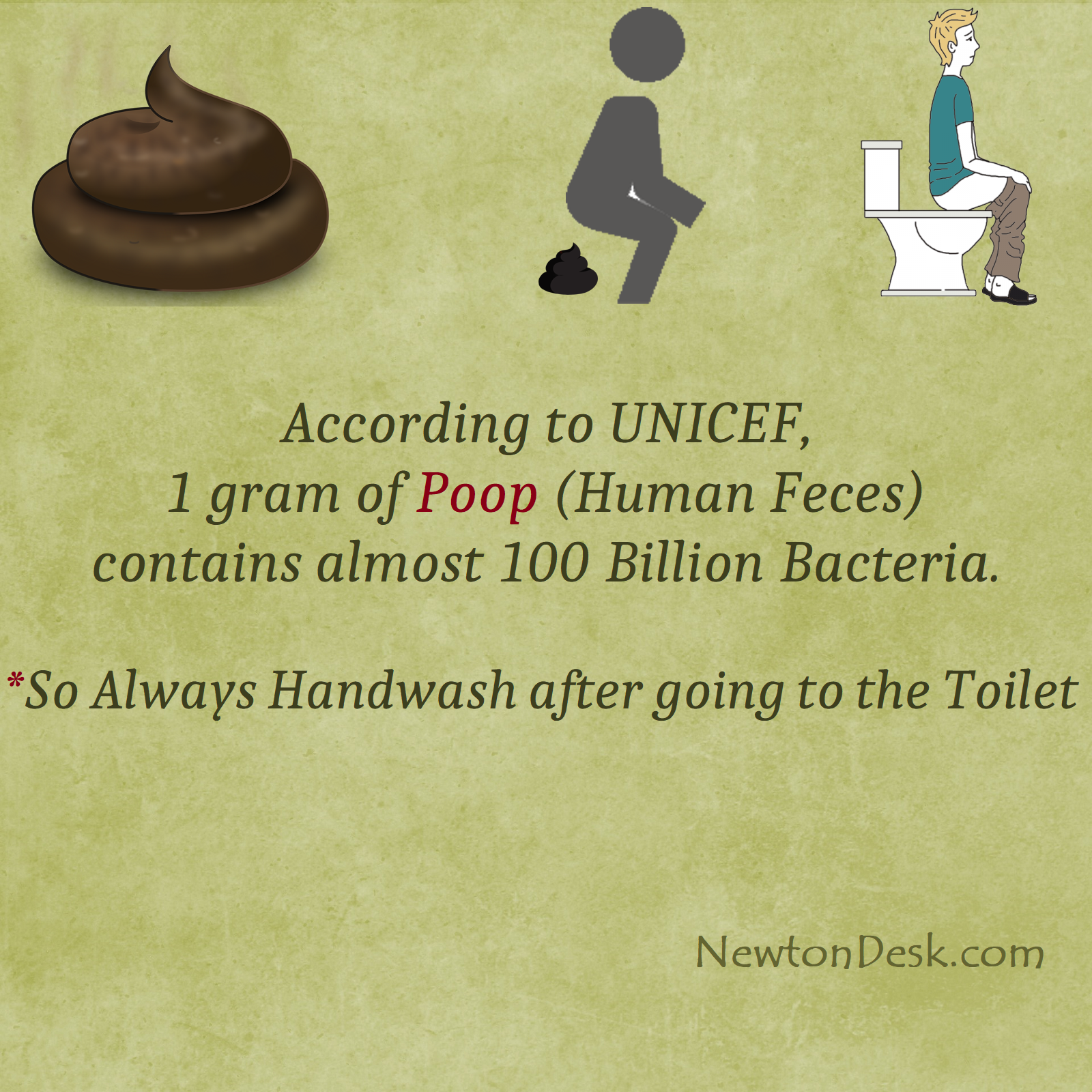 One Gram of Poop Contains Almost 100 Billion Bacteria | UNICEF Facts