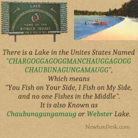 Chargoggagoggmanchauggagoggchaubunagungamaugg webster Lake