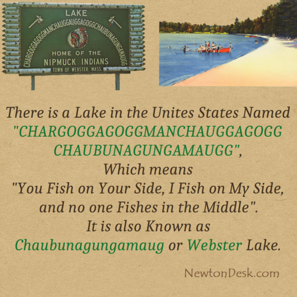 Chargoggagoggmanchauggagoggchaubunagungamaugg webster Lake