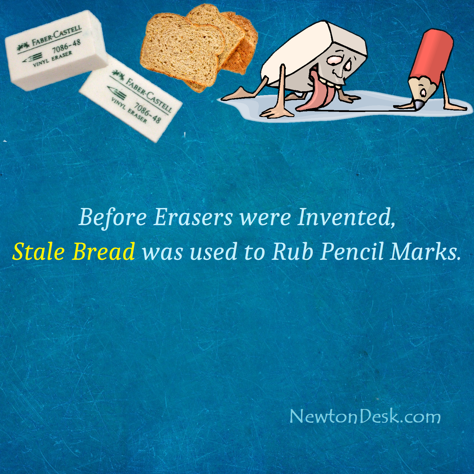 Eraserbread - Stale Bread as an Eraser To Rub Pencil Marks