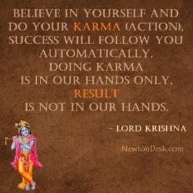Karmanye Vadhikaraste Ma Phaleshu – Lord Krishna Quotes On Karma