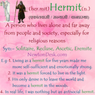 Hermit Meaning – A Person Who Lives Alone And Away From Society