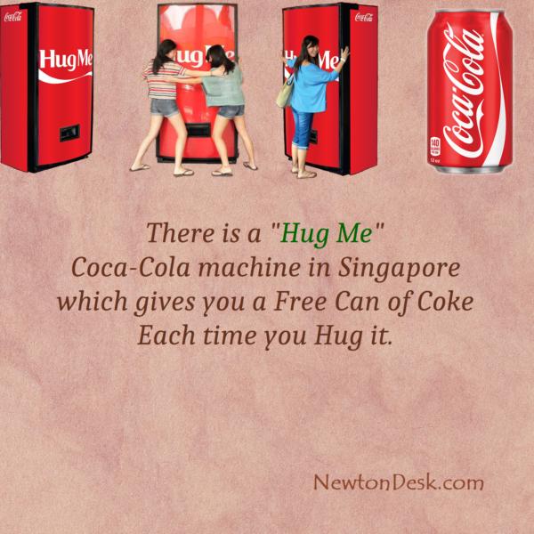 """Hug Me"" Coca-Cola (Coke) Machine In Singapore"
