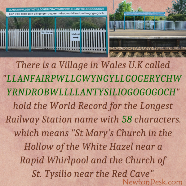 Llanfairpwllgwyngyll In Wales – The Longest Railway Staion Name