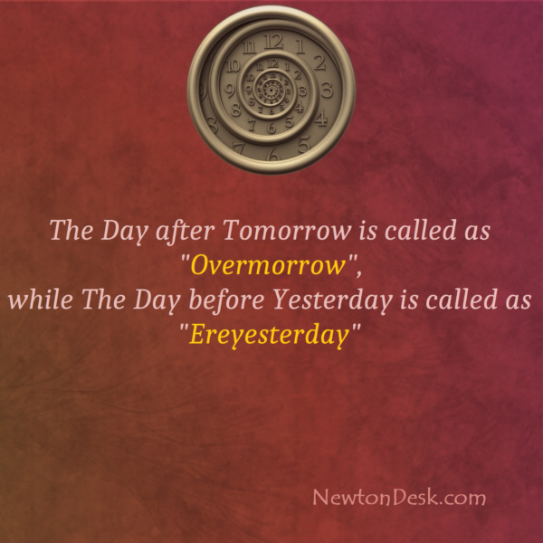 Day After And Before Tomorrow Is OVERMORROW and EREYESTERDAY