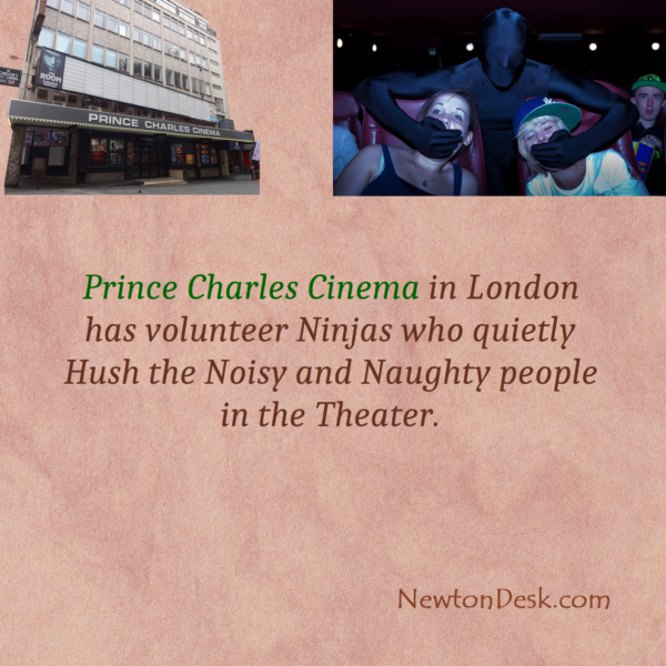 Prince Charles Cinema Ninjas Quietly Hush The Noisy People