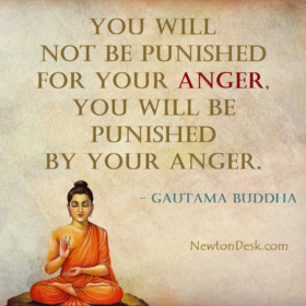 You Will Not Be Punished For Your Anger – Gautama Buddha Quotes