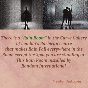 Rain Room At The Barbican Centre London By Random International