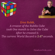 Erno Rubik Took One Month To Solve Rubik's Cube