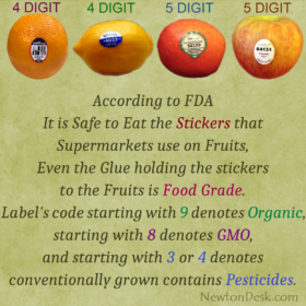 Is It Safe To Eat The Stickers Use on Fruit And Vegetables