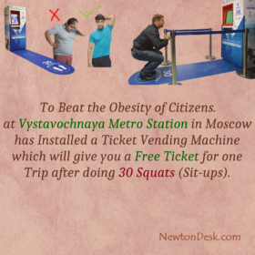 30 Squats Will Get You A Free Train Ticket In Moscow Metro Stations