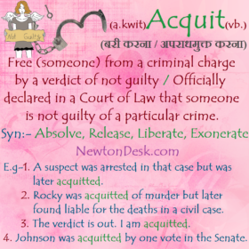 Acquit Meaning – Officially Declared Someone Is Not Guilty
