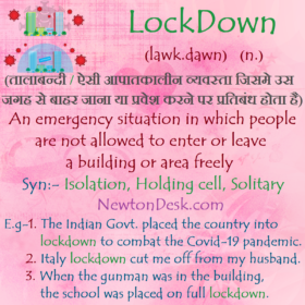 LockDown Meaning – An Emergency Situation of Isolation or Restricted