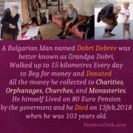 Dobri Dobrev As Grandpa Dobri Begging For Donate Money To Charities
