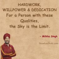 For Hardwork, Willpower & Dedication; Sky Is Limit
