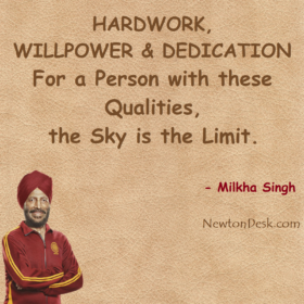 For Hardwork, Willpower & Dedication; Sky Is Limit
