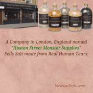 Hoxton Street Monster Supplies Sells Human Tears Salt In London
