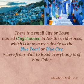 Chefchaouen In Northern Morocco Called Blue Pearl or Blue City