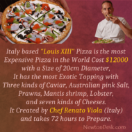 World's Most Expensive Louis XIII Pizza by Chef Renato Viola Italy