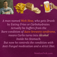 Nick Hess Gets Drunk By Eating Fries or Carbs
