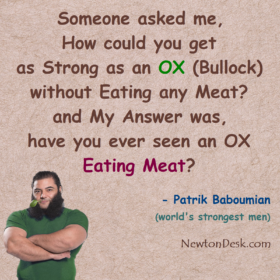 Strong As An OX (Bullock) Without Eating Any Meat